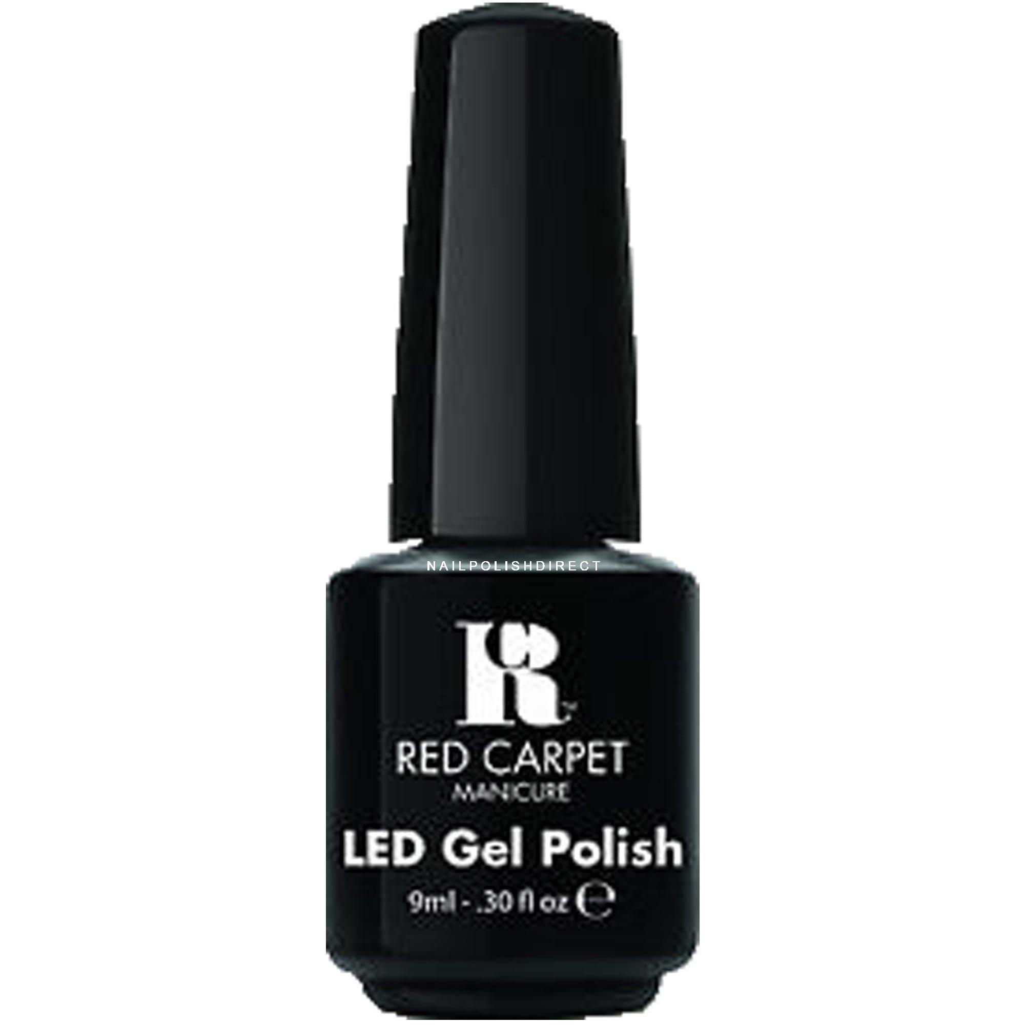 Red Carpet LED Gel Nail Polish - Black Stretch Limo 9ml | Professional