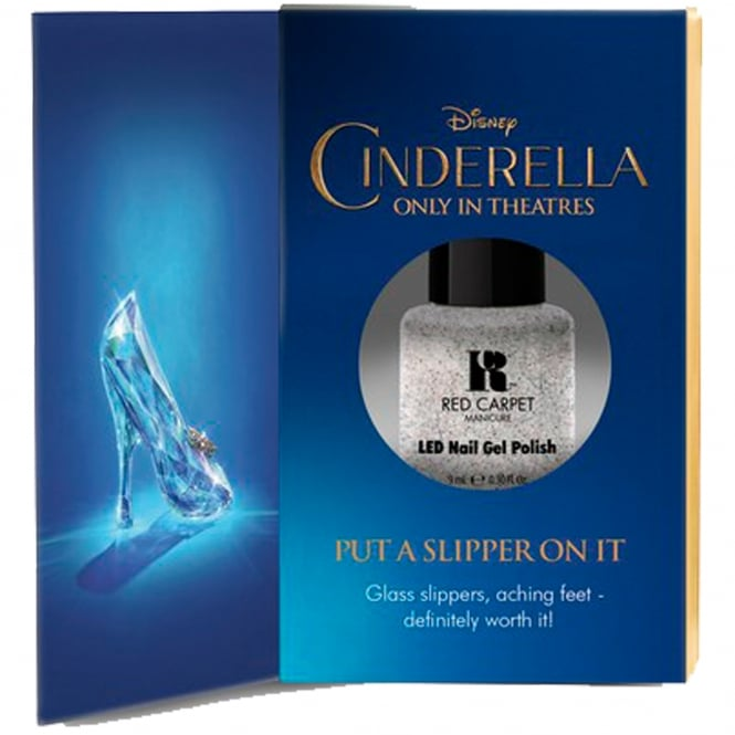 Red Carpet Manicure Gel Limited Edition LED Nail Polish - Disney Cinderella Collection - Put A Slipper On It 9ml