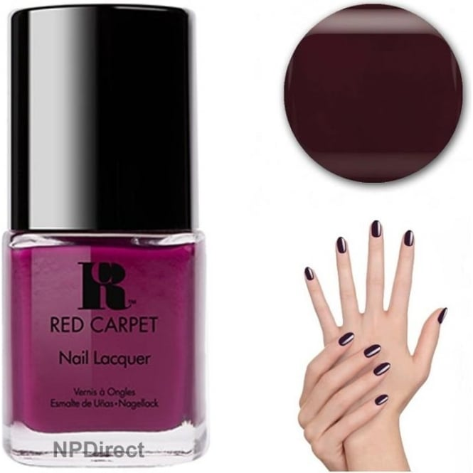 Red Carpet Nail Polish Lacquer - Plum Up The Volume - 15ml