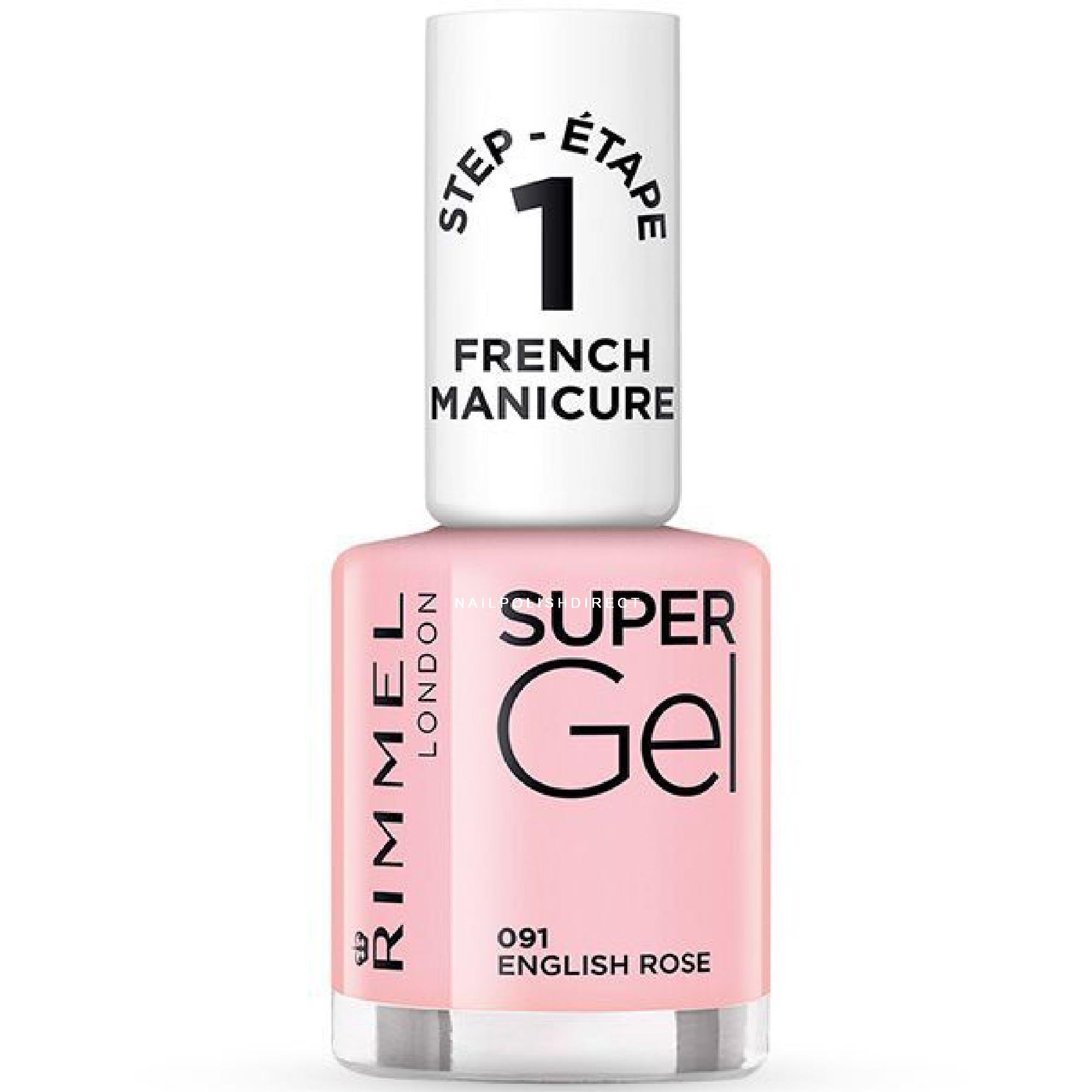 Rimmel London Super Gel Colour Nail Polish - English Rose (091) 12ml
