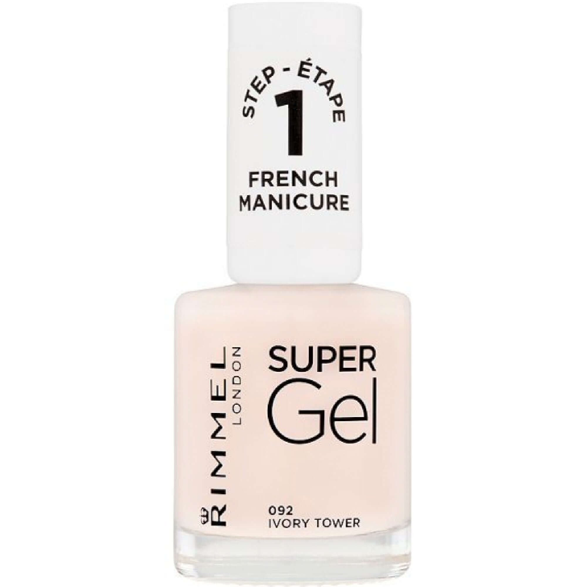 Rimmel London Super Gel Colour Nail Polish - Ivory Tower (092) 12ml