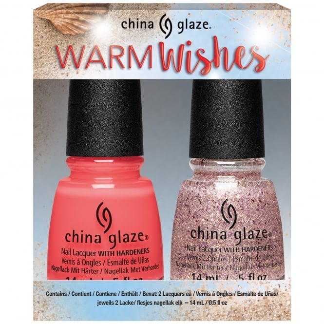 China Glaze Seas And Greetings Holiday Nail Polish Collection 2016 - Warm Wishes Duo (2 X 14ml) (83790)