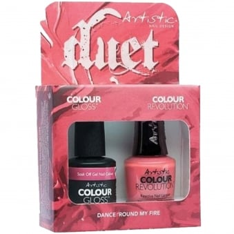 Soak Off Tribal Instinct Gel & Revolution Collection Duet - Dance Round My Fire (x2 15ml) (2100069)
