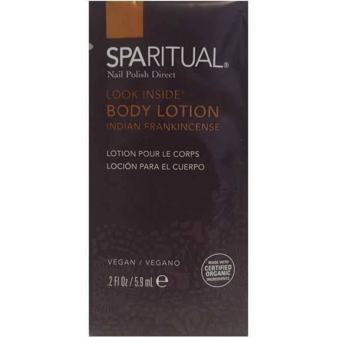 SpaRitual Look Inside Body Lotion (Sachet) - Indian Frankincense 5.9mL