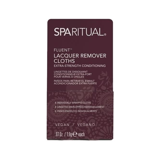 SpaRitual Nail Treatments - Fluent Conditioning Lacquer Remover Cloths (615) 6-Piece Set