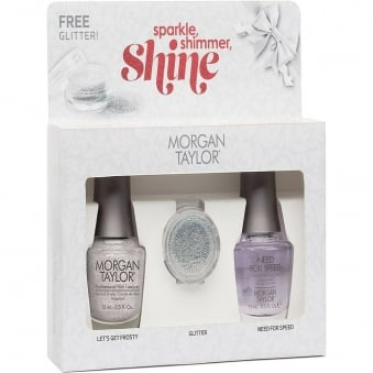 Sparkle Shimmer And Shine - (With A Free Gift) A Duo Nail Polish Pack (2 x 15ml)