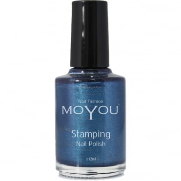 Stamping Nail Art Metallic Collection - Special Nail Polish - Celestial Blue 12ml