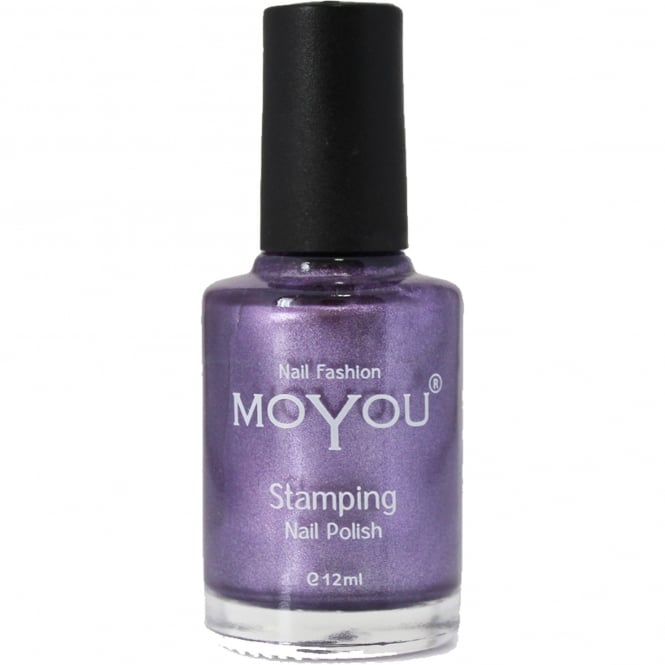 MoYou Stamping Nail Art Metallic Collection - Special Nail Polish - Majestic Violet 12ml