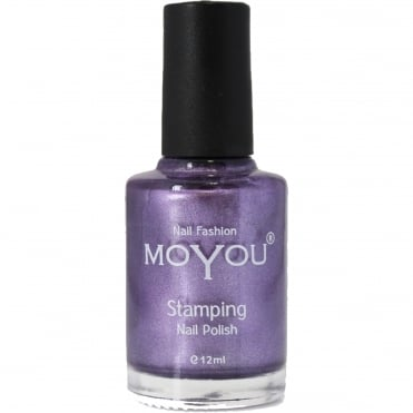 Stamping Nail Art Metallic Collection - Special Nail Polish - Majestic Violet 12ml
