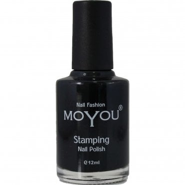Stamping Nail Art - Special Nail Polish - Black 12ml