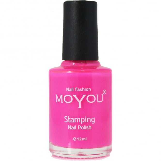 MoYou Stamping Nail Art - Special Nail Polish - Shocking Pink 12ml