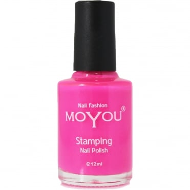 Stamping Nail Art - Special Nail Polish - Shocking Pink 12ml