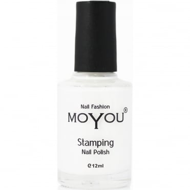 Stamping Nail Art -Special Nail Polish - White 12ml