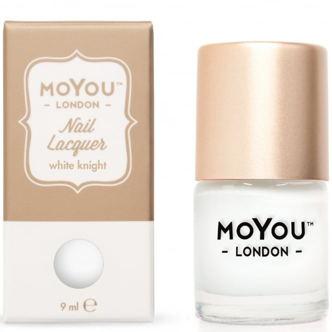 MoYou London Stamping Nail Lacquer - White Knight 9ml (MN014)