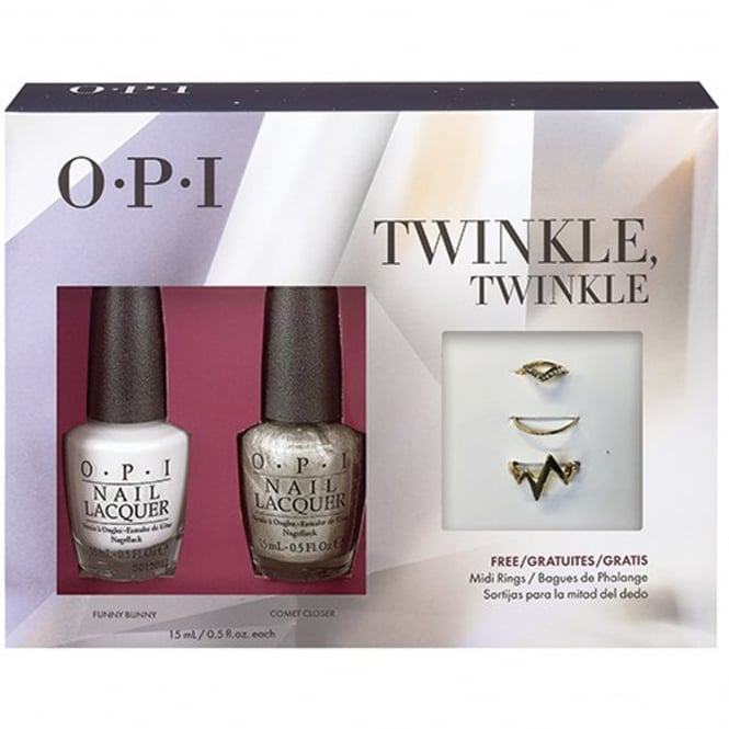 OPI Starlight 2015 Holiday Duo + Free Midi Ring - Twinkle Twinkle x2 15ml (HR G15)