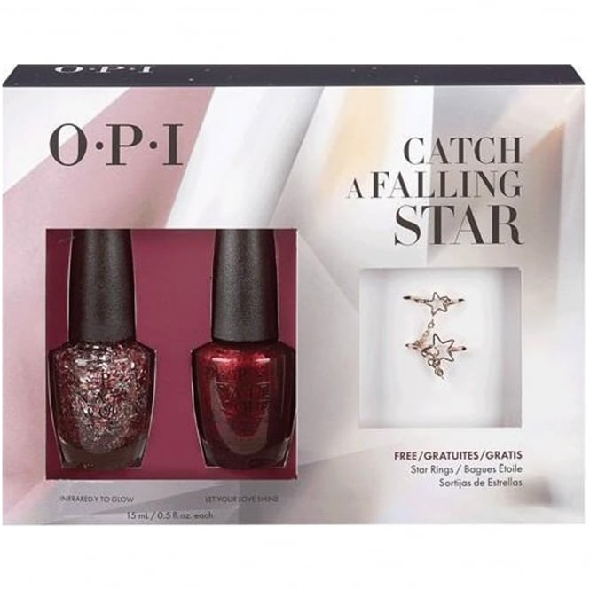OPI Starlight 2015 Holiday Duo + Free Star Rings - Catch A Falling Star x2 15ml (HR G16)