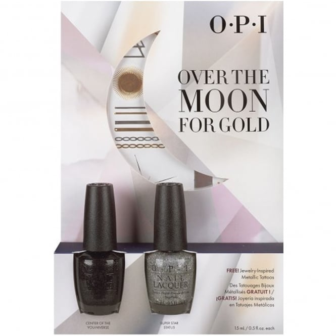 OPI Starlight 2015 Holiday Duo - Over The Moon For Gold - Center Of The You niverse & Super Star Status x2 15ml (HR G14)