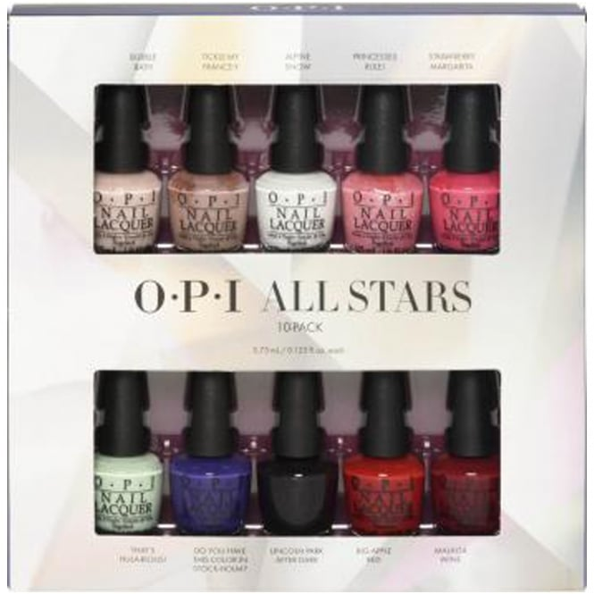 OPI Starlight 2015 Holiday Mini Nail Polish Collection - All Stars 10x3.75ml (HR G12)