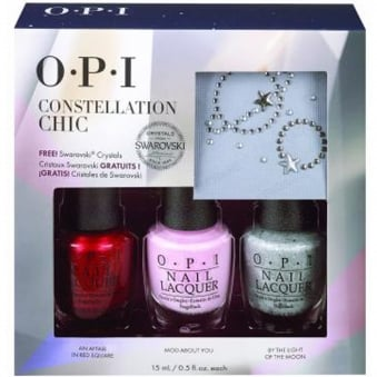 Starlight 2015 Holiday Trio + Swarovski Crystals & Nail Glue - Constellation Chic x3 15ml (HR G17)