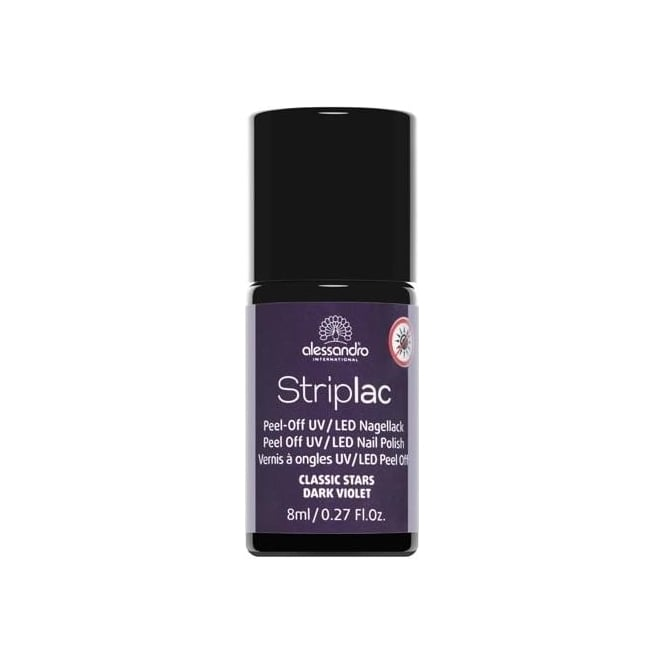 Striplac Peel Off UV LED Classic Stars Nail Polish Collection - Dark Violet 8mL