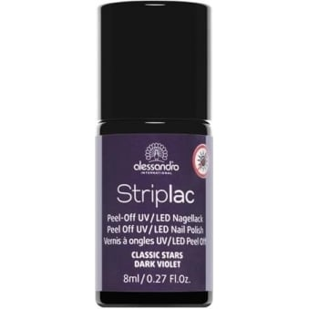 Peel Off UV LED Classic Stars Nail Polish Collection - Dark Violet 8mL