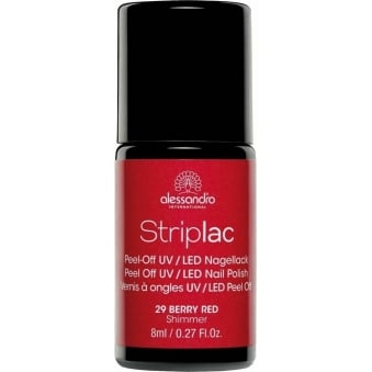 Peel Off UV LED Nail Polish - Berry Red 8ml (29)