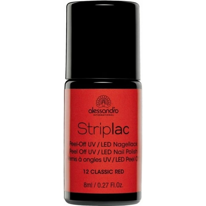 Striplac Peel Off UV LED Nail Polish - Classic Red 8ml (12)