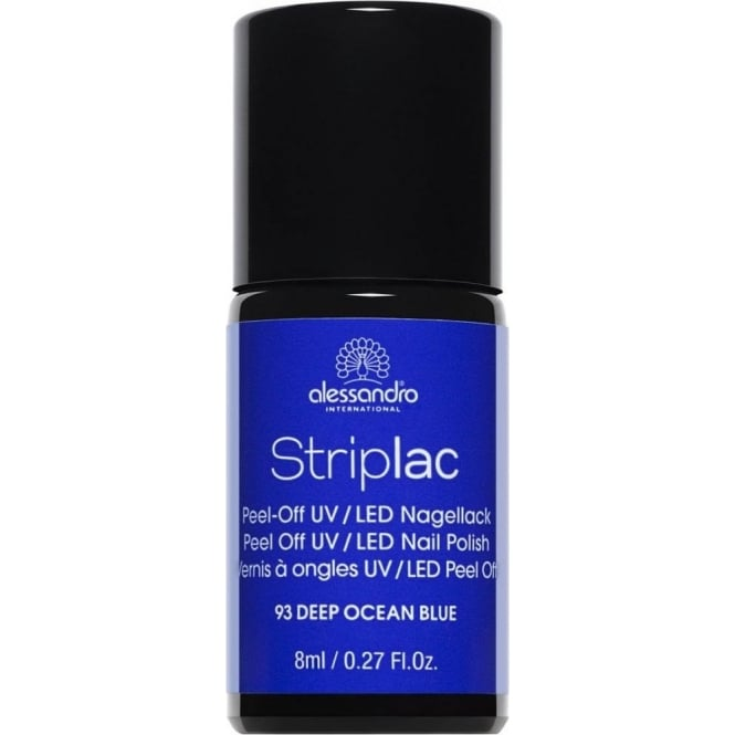 Striplac Peel Off UV LED Nail Polish - Deep Ocean Blue 8ml (93)