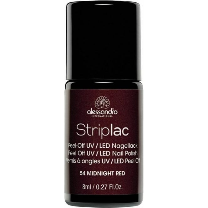 Striplac Peel Off UV LED Nail Polish - Midnight Red 8ml (54)
