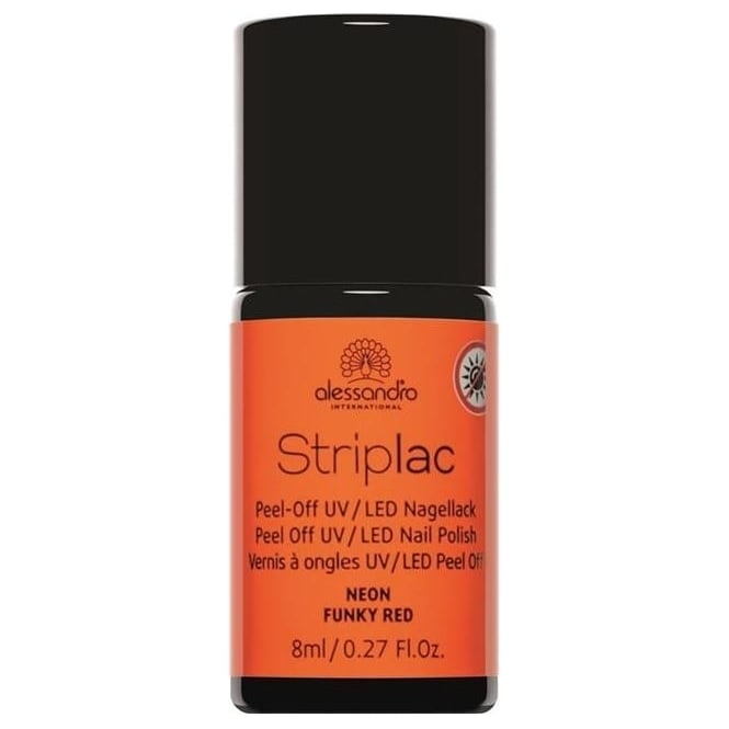 Striplac Peel Off UV LED Nail Polish - Neon Funky Red 8mL