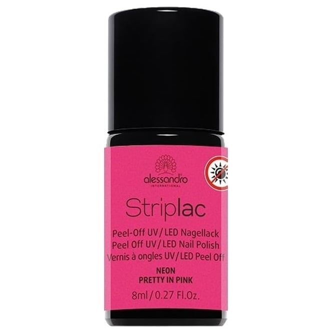 Striplac Peel Off UV LED Nail Polish - Neon Pretty In Pink 8mL