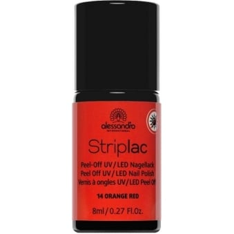 Peel Off UV LED Nail Polish - Orange Red 8mL (14)