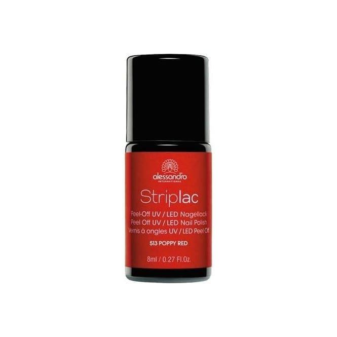Striplac Peel Off UV LED Nail Polish - Poppy Red (513) 8mL