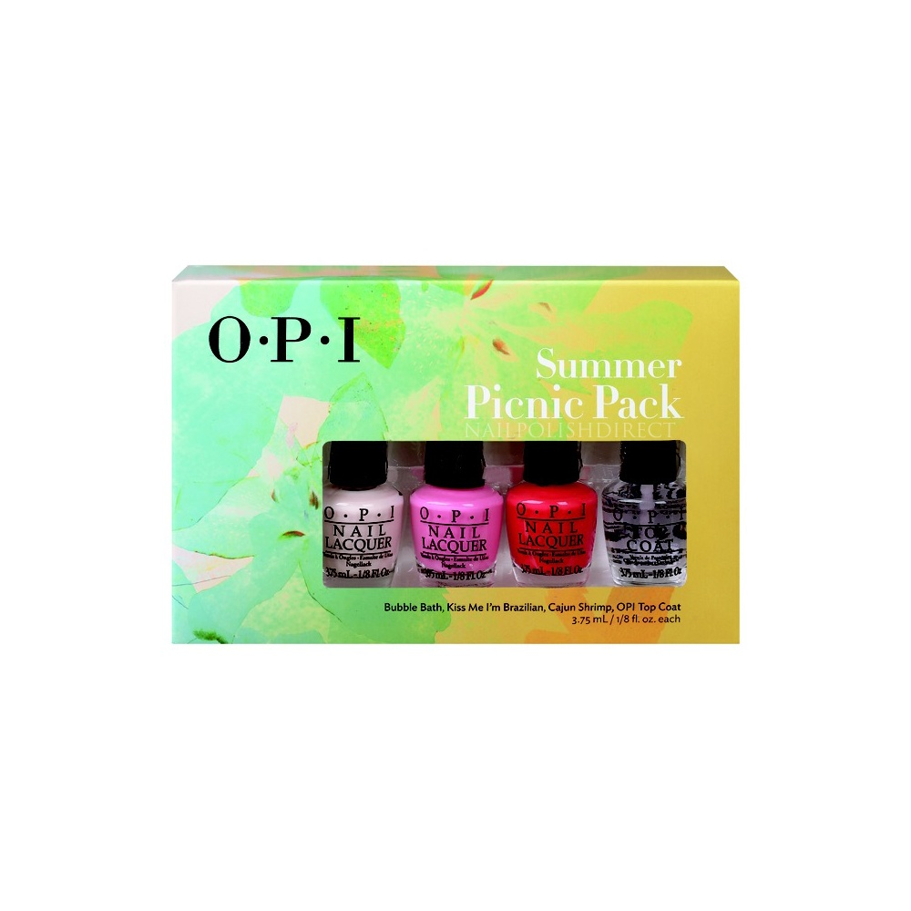 opi summer picnic mini nail polish set 2015 4x