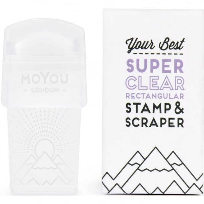 MoYou London Super Clear - Rectangular Stamper & Scraper (MSRC)