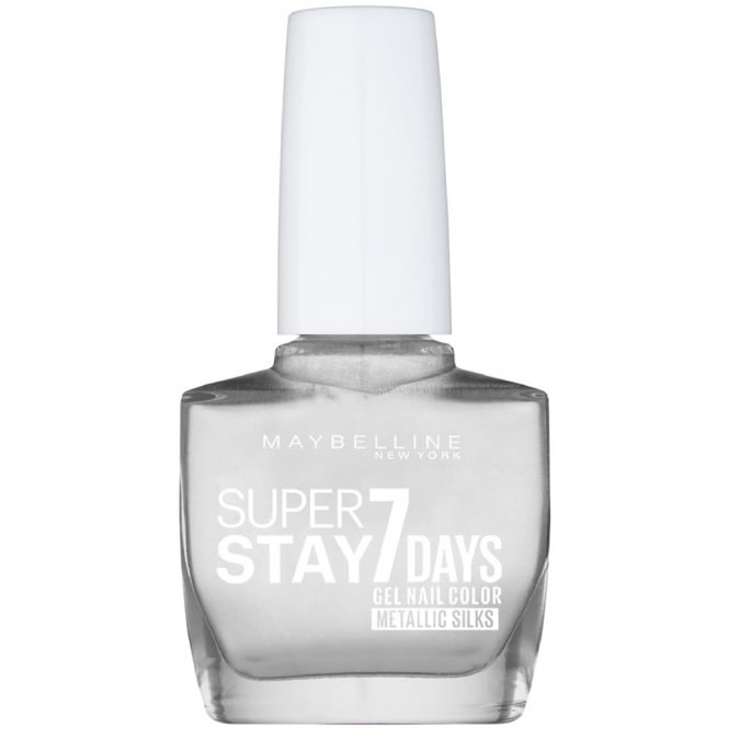 Maybelline Super Stay 7 Days Metallic Silks Gel Nail Polish - Silver Satin (881) 10ml