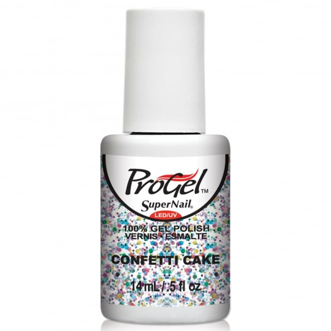 SuperNail Pro Gel Nail Polish - Confetti Cake 14ml (81454)