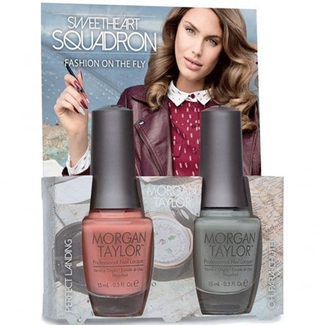 Morgan Taylor Sweetheart Squadron Collection - Fashion On The Fly - A Duo Nail Polish Pack (2 x 15ml) (51308)
