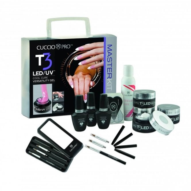 Cuccio T3 LED & Controlled Leveling Versatilty Gel - Master Kit (10 Piece Set) (CP16003LED)