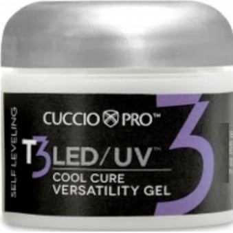T3 LED/UV Cool Cure Versatility Gel - Controlled Levelling Clear 28g