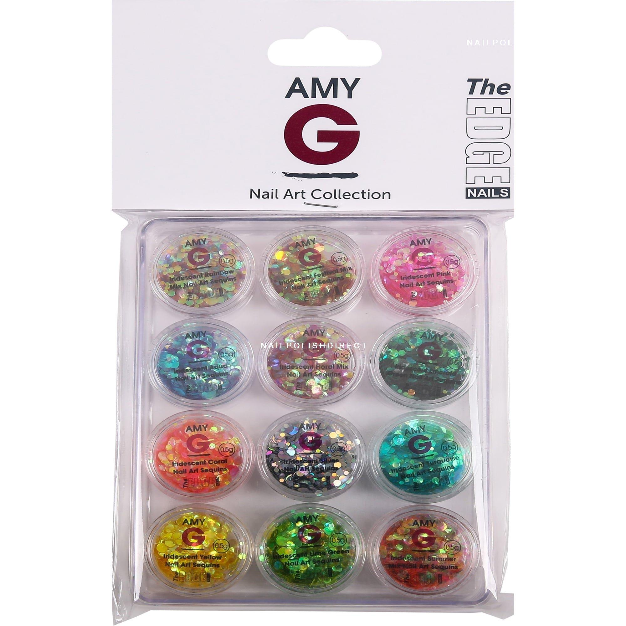 Amy G - Iridescent Nail Art Sequins - Iridescent Kit (12 X 0 5g) (3003081)