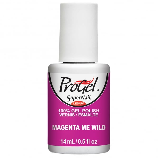SuperNail ProGel Tropical Pop Gel Nail Polish Collection - Magenta Me Wild 14ml