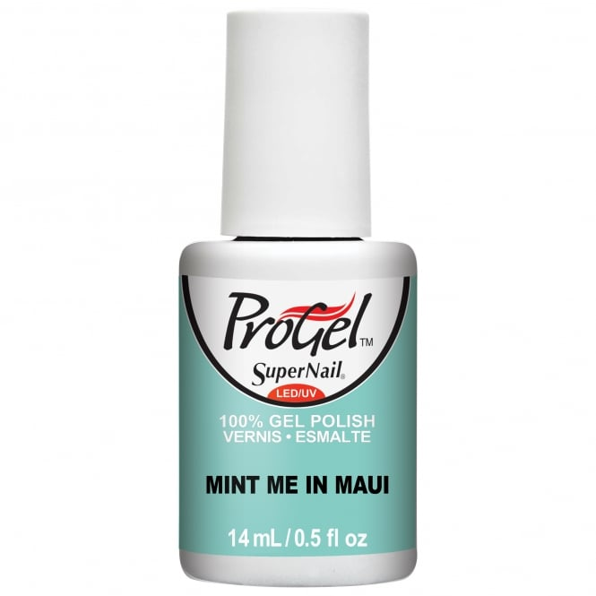 SuperNail ProGel Tropical Pop Gel Nail Polish Collection - Mint Me In Maui 14ml