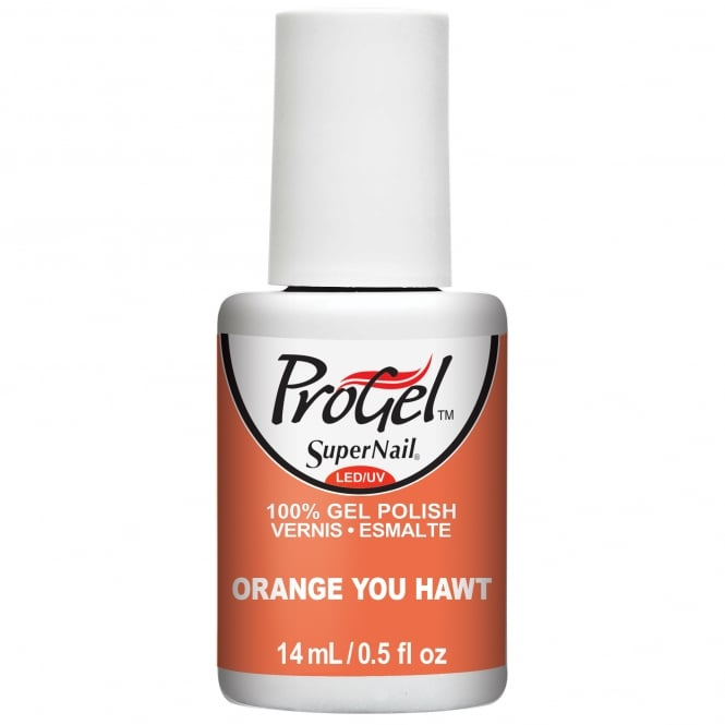 SuperNail ProGel Tropical Pop Gel Nail Polish Collection - Orange You Hawt 14ml