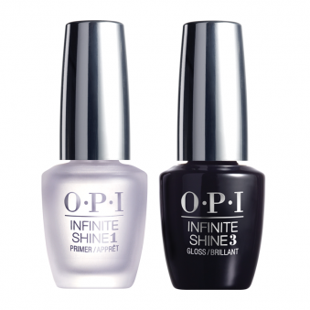 (Unboxed) Gel Effects Duo Pack | Set Includes: 1x OPI Infinite Shine Primer and 1x Infinite Shine Gloss (2x 15mL)