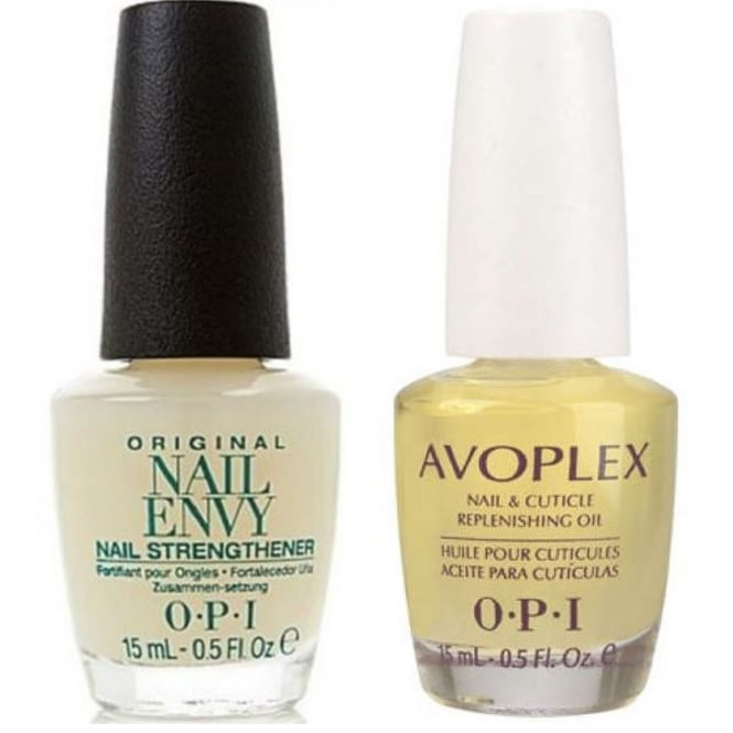 OPI (Unboxed) Nail Envy Strengthener Original Formula & Avoplex Cuticle Oil Duo - Perfect Partners (X2 15ML)