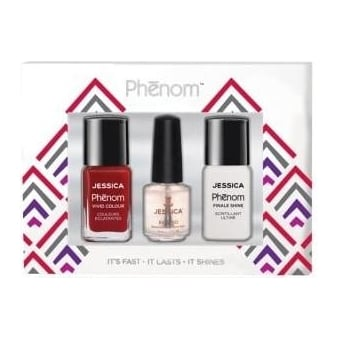Vivid Colour Gift Sets - Jessica Red & Finale Shine 15ml - Free Reward Basecoat 7.4ml