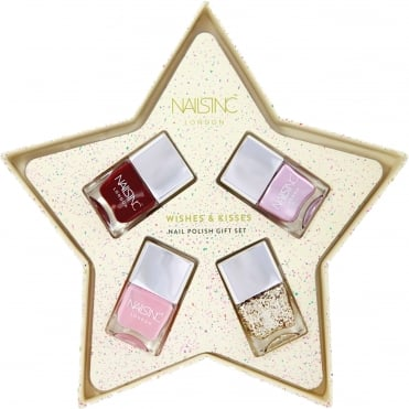 Wishes & Kisses Nail Polish Gift Set - (4 X 14ml)